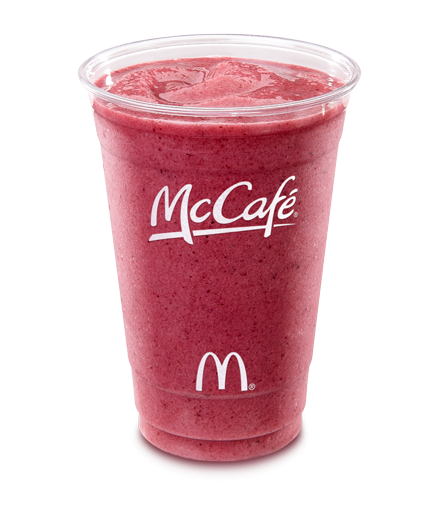 McCafé Blueberry Pomegranate Smoothie