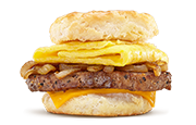 Steak, Egg & Cheese Biscuit