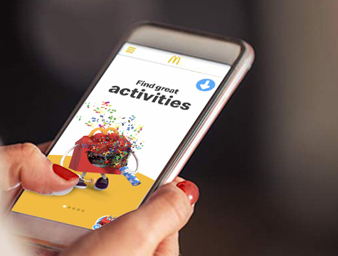 Mcdonals App open in mobile