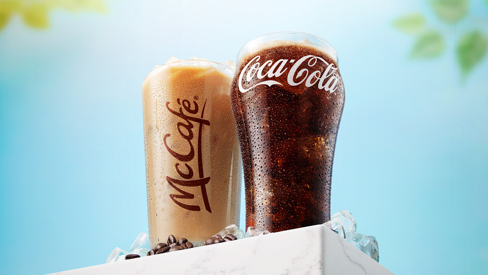 Coca-cola and Iced coffee