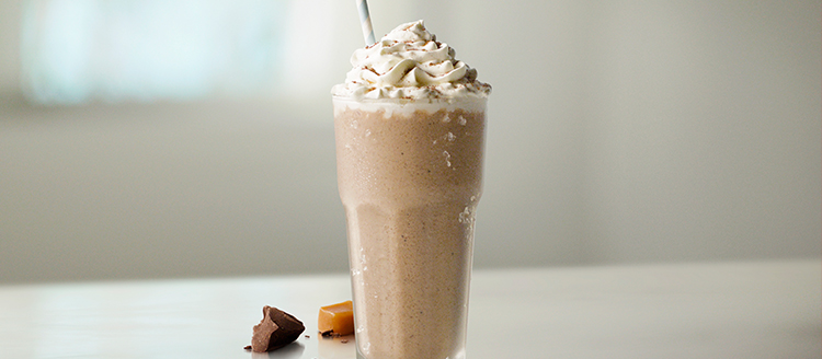 Caramel Chocolate Coffee Iced Frappé
