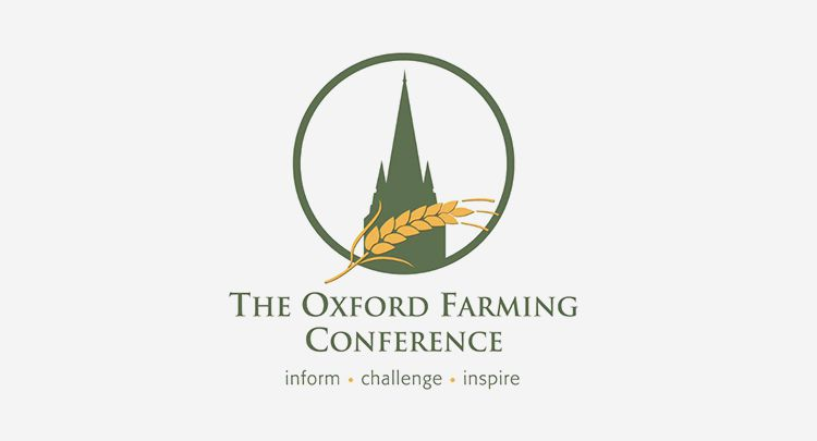 The Oxford Farming Conference Logo. Inform, challenge, inspire