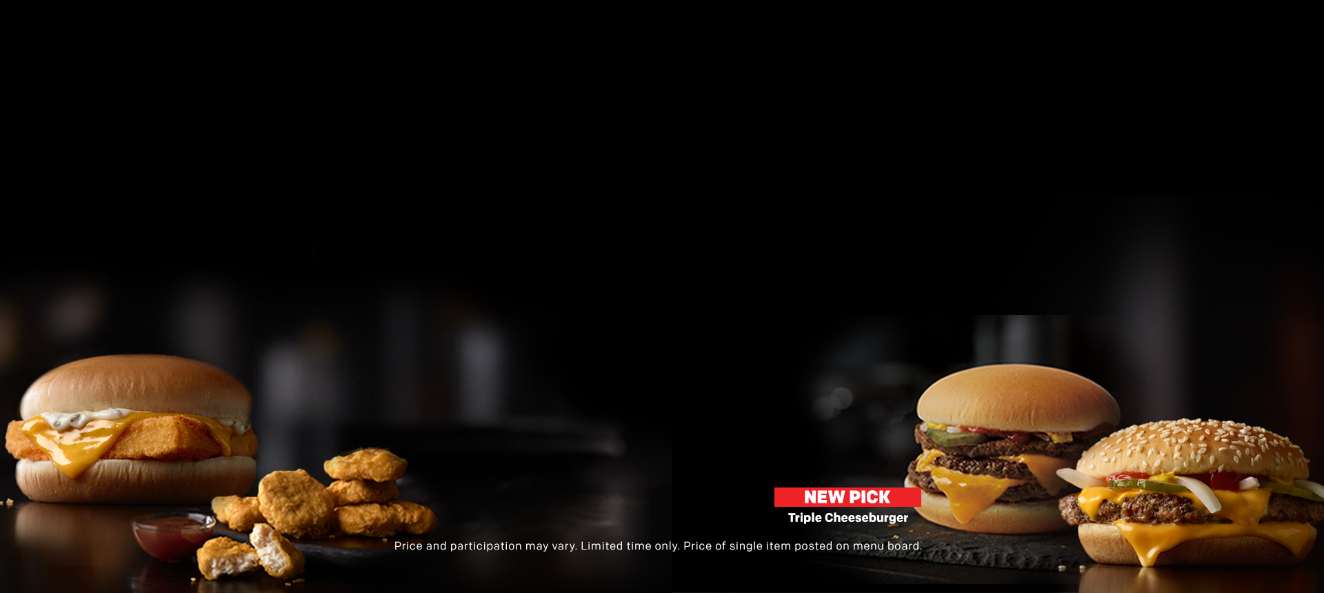 Love your choice and your food with the new McPICK 2 FOR $5 MENU