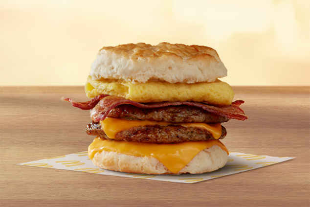 Triple Breakfast Stack Biscuit