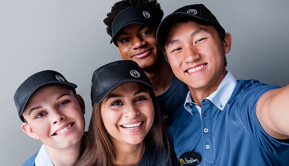 A group of McDonald's employees
