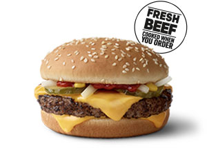 Fresh Beef Quarter Pounder With Cheese