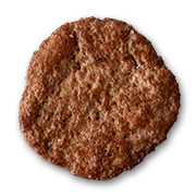 Hamburger single patty