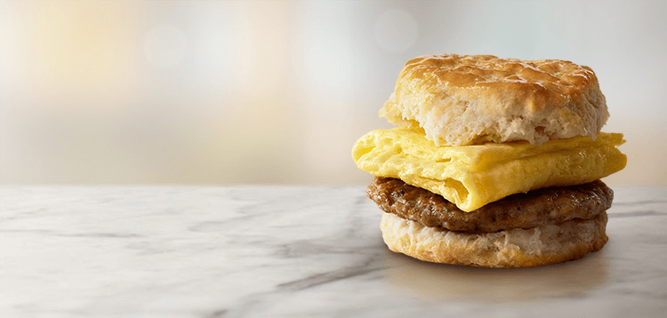 mcdonalds bacon egg & cheese biscuit regular size biscuit