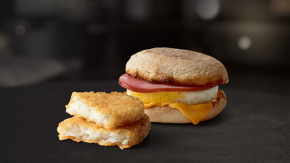 Hash Browns and Egg McMuffin®