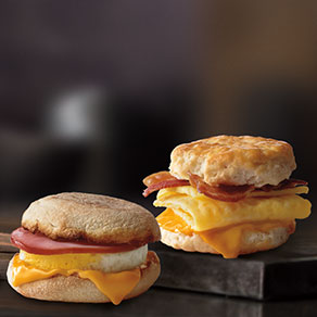 McDonald's Egg McMuffin® and Bacon, Egg & Cheese Biscuit