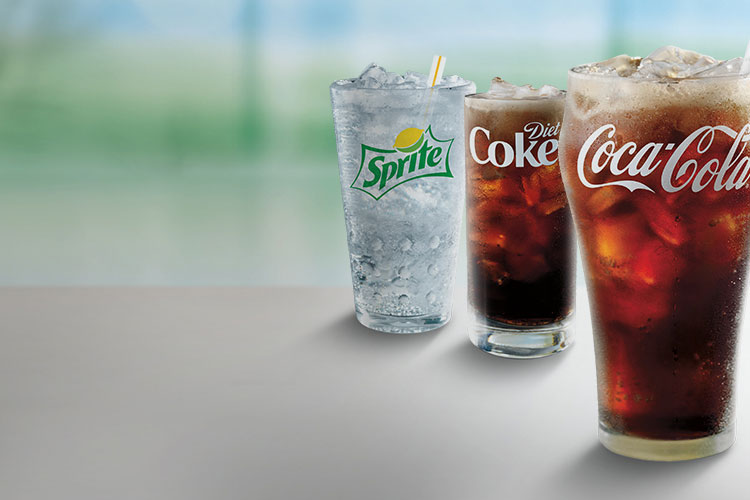 $1 any size soft drink