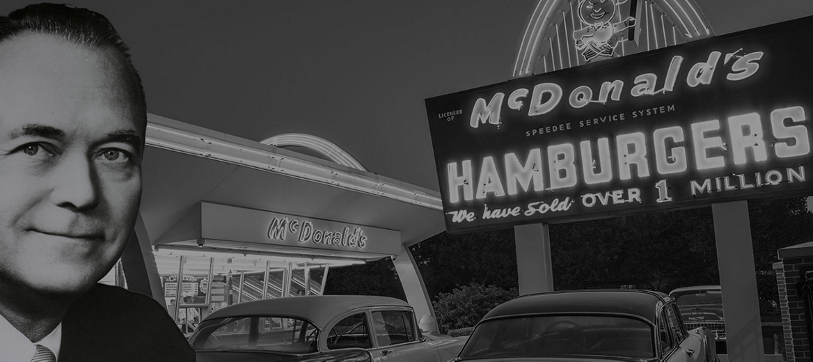 Ray Kroc and McDonald Signage