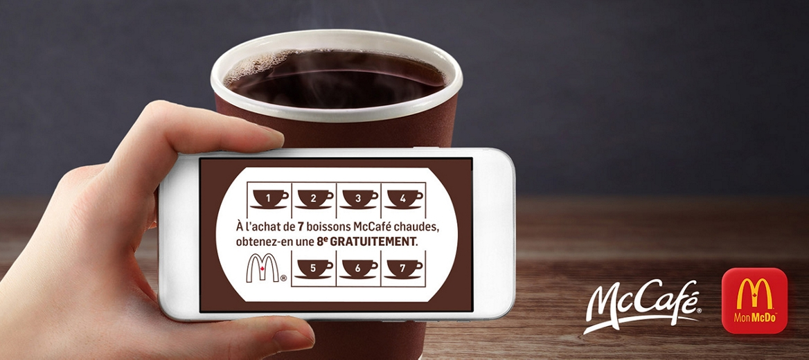 McCafe cup and rewards card
