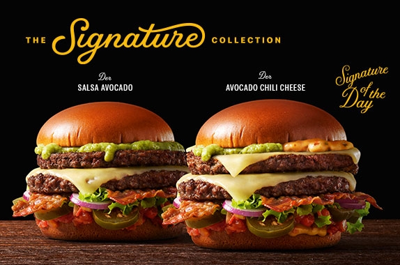 mcdonald's the signature collection: jetzt den salsa avocado und den avocado chili cheese entdecken!