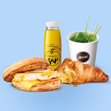 Egg McMuffin met Sap, Thee en een Croissant