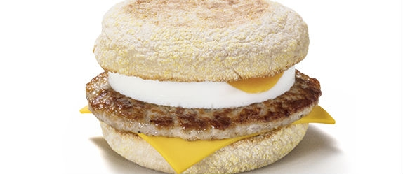 A Sausage and Egg McMuffin