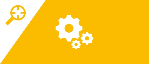 A cogs icon indicating reflection task