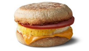 mcdonalds egg mcmuffin calories no meat